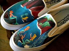 Custom painted shoes Disney by kfeiling on Etsy, $100.00