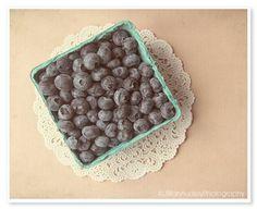 Blueberries Photograph - food photo - 8x10 - farm market finds - soft romantic pastel - kitchen art - summer  - rustic kitchen gift via Etsy.