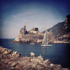 Portovenere (Italy) The Saint Peter Church from the Palmaria Island