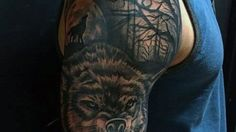 60 Wolf Tribal Tattoo Designs For Men
