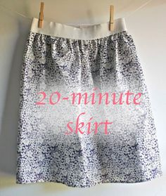 The 20 minute Skirt- Tutorial Sewing Hacks, Sewing Tutorials, Sewing Crafts, Sewing Projects, Sewing Patterns, Shirt Patterns, Dress Patterns, Crochet Tutorials, Clothes Patterns