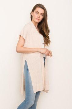14ccce7349ab5 Sleeveless cardigan with open front. Throw on over a pair of jeans or your  best dress. Perfect cover for spring. Acrylic Cotton Blend Gentle Wash Hang  or ...