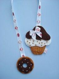 boekenlegger cupcake + donut