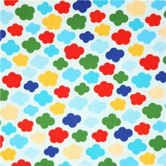turquoise cloud flannel fabric Robert Kaufman Sorbet