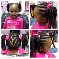 Cute braided style with ponytails