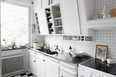 White retro kitchen.