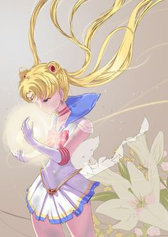 Fighting evil by moonlight winning love by daylight Never running from a real fight! She is the one named Sailor Moon!