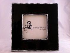 Black Frame with White Dot Border by chutneyblakedesigns on Etsy, $29.50
