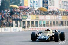 Emerson Fittipaldi no GP da Itália 1971.