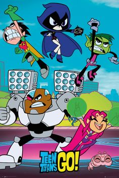 Teen Titans Go Cast - Official Poster. Official Merchandise. Size: 61cm x 91.5cm. FREE SHIPPING