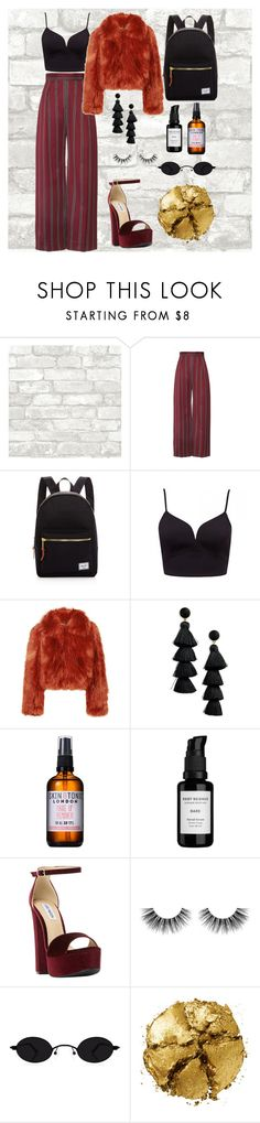 """girl"" by museness ❤ liked on Polyvore featuring Herschel Supply Co., Maison Margiela, BaubleBar, Skin & Tonic, Root Science, Steve Madden, Velour Lashes and Pat McGrath"
