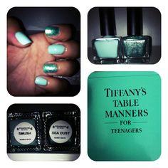Urban Outfitters nail polish: Smush and Sea Dust A mermaid visits Tiffany's!