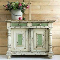 Love to re-paint this piece of furniture, be great for my hall