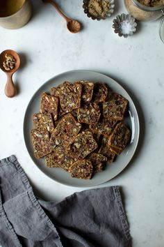 Walnut and Cranberry Seedy Crackers