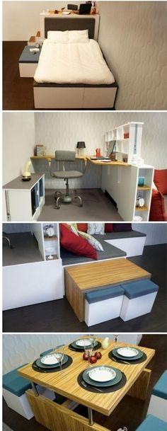 Mueble Integral multi-usos para espacios pequeños.