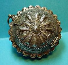 Silver Betel Nut container Intricate Antique