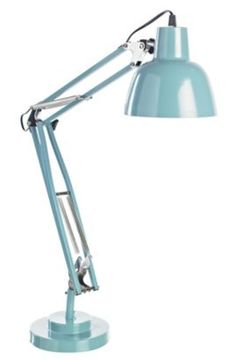 Brighten up your desk with this Isaac blue desk lamp #CityFields #Light