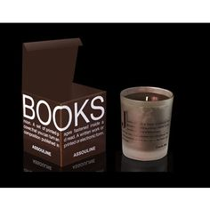 This is a candle that smells like BOOKS.