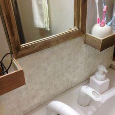 洗面 Tile Floor, Flooring, Mirror, Bathroom, Furniture, Home Decor, Washroom, Decoration Home, Room Decor