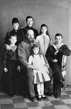 Grand Duke Michael (far left) with his parents and siblings. Back row (left to right): Empress Maria, Grand Duke Nicholas (later Nicholas II), Grand Duchess Xenia, Grand Duke George. Front: Tsar Alexander III and Grand Duchess Olga Maria Feodorovna, Tsar Nicolas, Tsar Nicholas Ii, Zar Nikolaus Ii, Christian Ix, Grand Duchess Olga, House Of Romanov, Grand Duke, Saint Petersburg