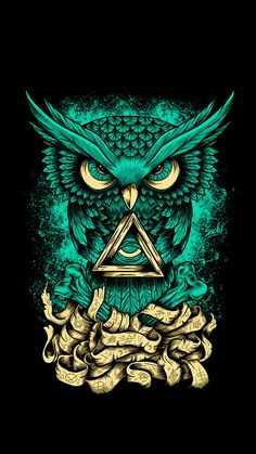 Diamond Painting Magic Owl Kit is part of Owl artwork - You too can be an artist when you paint with Diamonds! Every kit gives you a chance to create a work of art you can be proud of This diamond painting kit Illuminati Tattoo, Owl Artwork, Owl Wallpaper, Graffiti Wallpaper, Mobile Wallpaper, Owl Illustration, Illustrations, Psy Art, Tatoo