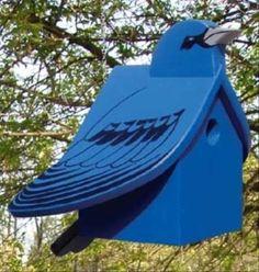 19-W3323 - Indigo Bunting Bungalow Birdhouse Woodworking Plan