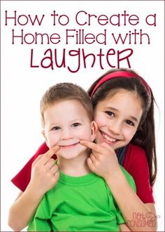 They say laughter is the way to a person's heart. Do you want to have a family that loves and cares for each other's heart? See how we create opportunities to laugh out loud in our home.