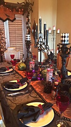 260 Halloween Dining Rooms Ideas Halloween Table Halloween Table Settings Halloween Dining Room