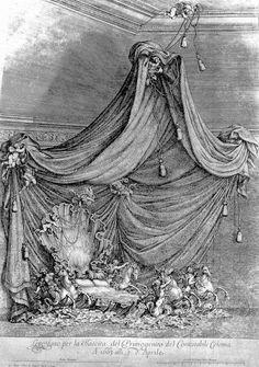 Maria Mancini Colonna's magnificent 'bed' by baroque designer Johann Paul Schor, 1663