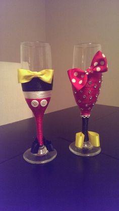 Mickey and Minnie wedding present