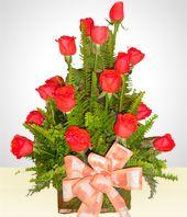 Felicitaciones - Arreglo de 18  Rosas