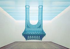 Do-Ho Suh, Reflection, The Perfect Home II (Reminds me of an intense dream i had as a teen in the late 1970's, where rich people lived in blue glass towers that were inverted into the water.  t)