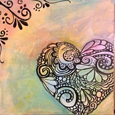Heart painting inspired by and  for Grammy! By Elissa Surabian