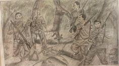 Ángel Del Cid, Dibujo Encargó, tamaño 23cm *33cm