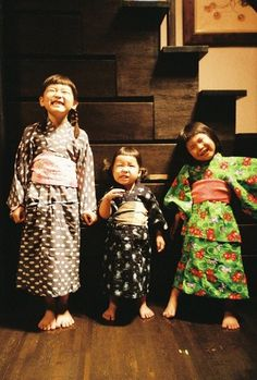 Japanese kids in old times