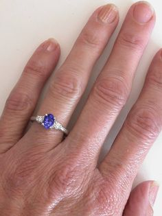 Single plain tanzanite engagement rings - Google Search