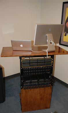 Standing desk made from server rack. rexhammock*, via Flickr (*Hey, that's me!)