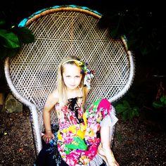 Girls Dress/Boho/Flower/Hippie/70s by Blinnea on Etsy, $34.00