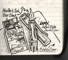 Noodler's ink on Moleskine diary first test | by Liyin Yeo of Liyin Creative Studio
