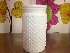 White Hobnail Jar Large. $6.50, via Etsy.
