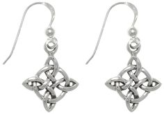 Jewelry Trends Sterling Silver Celtic Good Luck Quaternary Knot Dangle Earrings ** More info could be found at the image url. (This is an affiliate link and I receive a commission for the sales)