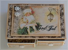 Velkommen inn Christmas Decorations, Christmas Ornaments, Bag Packaging, Graphic 45, Frame, Cards, Decorating, Home Decor, Picture Frame