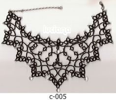 """A lovely variation of the tatted """"Portrait Necklace"""" which was originally adapted from a vintage tatting pattern called the """"Portrait Collar""""."""