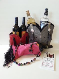 SCC new line of wine and alcohol totes.  Great gift for Father's Day. Made from vintage cowboy boots!  Comes in all colors and sizes.  www.stagecoachbagsandcollectibles.com