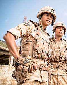 """Song Joong Ki & Jin Goo in Descendants of the Sun """