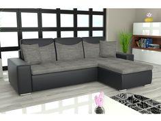 Rohová sedačka YORK L univerzální, šedá látka/černá ekokůže Rozkládací rohová sedačka YORK L univerzální Sedačka je univerzální = roh lze smontovat na pravý i levý. Obrázek rozložené sedačky je jen ilustrativní (jiná barva a typ … Outdoor Sectional, Sectional Sofa, Couch, Outdoor Furniture, Outdoor Decor, Home Decor, Modular Couch, Settee, Decoration Home