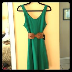 Express dress. New with tags. Express dress. New with tags. Vibrant teal. Perfect to accessorize and flaunt your personality! Belt not included. Express Dresses
