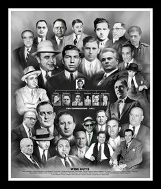 A historic montage by Wishum Gregory that features some of the most infamous wise guys, made men, gangsters and members of the Mafia (La Cosa Nostra). Carlo Gambino, Gangster Tattoos, Real Gangster, Mafia Gangster, Gangster Party, Joe Masseria, Vincent Gigante, Familia Corleone, Ghost Rider