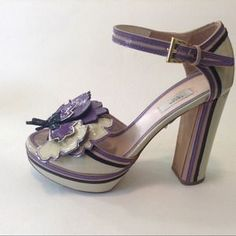 I just discovered this while shopping on Poshmark: Prada Patent Platform Shoes Embellished Size 35.5. Check it out!  Size: 5.5