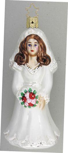 Inge Glas 2007 #Christbaumschmuck#Braut#aus dem Hause Inge Glas.Weihnachtsbaumschmuck made in Germany mundgeblasen und von Hand bemalt bei www.gartenschaetz...